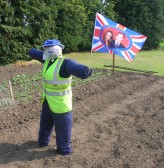 The first scarecrow in Pymoor to Celebrate the Royal Wedding of Prince William & Catherine Middleton! 2011