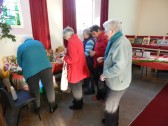 People looking for a bargan at the Christmas Coffee Morning at the Pymoor Methodist Chapel, Main Street, Pymoor 2012.