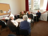 People enjoying a cup of tea at the Christmas Coffee Morning at the Pymoor Methodist Chapel, Main Street, Pymoor.2012