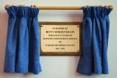Memorial Plaque to Betty Heaps, devoted & faithful servant of Pymoor Methodist Chapel.