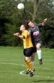 Shaun Butcher playing football for Pymoor at Little Downham Recreation Ground 2007.