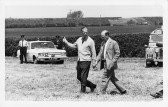 Duke of Edinburgh and Peter Scott in Pymoor. The Day Prince Philip 'dropped in at Pymoor.'