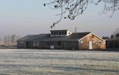 Pymoor Cricket Club under a light dusting of snow, Christmas Eve 2006.