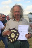 Tony Rudderham with the Dalgety Shield Ear of Wheat Competition at the Pymoor Show, July 2007.