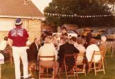 A party to celebrate Queen Elizabeth II's Silver Jubilee at the Pymoor Cricket Club, Pymoor 1977.