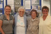 Tina Parson, Joan Saberton, Vera Saberton and Cynthia Parson by the Pymoor Archive Group Stand at the Pymoor Show 2007.