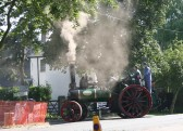 A Traction Engine arrives at the Pymoor Show 2006.
