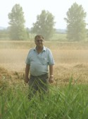 Roger Parson on his farm at Oxlode, Pymoor 2006.