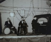 The 'Blue Tits' performing at a dance in the W.I. Hall, Pymoor.