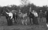 Ethel, Lewis, Prissy and Arthur Pate at Guildacre, Pymoor in 1898.. Ethel, Lewis, Prissy and Arthur,Pate at Guildacre,Pymoor.