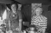 Ezra Barker's Mother, Norah Bartle and Nelly Scott, Pymoor, circa 1965