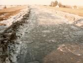 The frozen 100 Foot River, Pymoor.