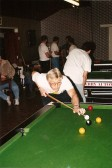Alan Butcher at the Children in Need 24 Hour Pool Marathon in the Pymoor Social Club 1991.