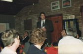 Pymoor Cricket Club Dinner 1992 with Essex and England cricketer Derek Pringle