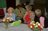 Villagers catch up with the latest news at the monthly Coffee Afternoons in the Pymoor Social Club 2007.