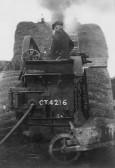 Lewis Pate on his steam engine in Pymoor.
