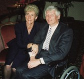Pam and Brian Farrell celebrating their Silver Wedding Anniversary in Pymoor.