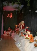 The enchanted passageway leading to Santa's Grotto at the Christmas Bazaar in the Pymoor Social Club 2007.
