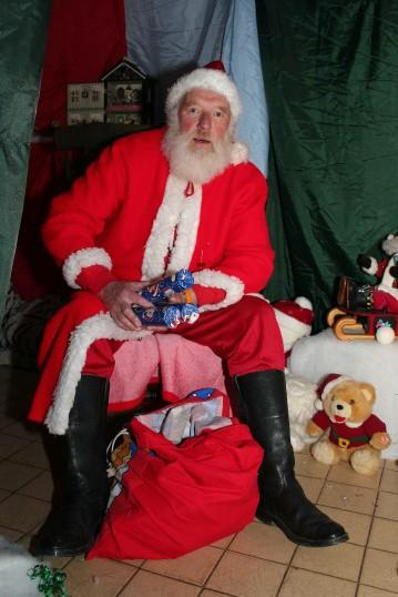 Santa in his Grotto at the Christmas Bazaar at the Pymoor Social Club 2007.