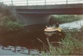 Under the bridge at Main Drove, Pymoor, 1986.
