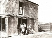 The Mixing Shed at Darby's Mill, Pymoor, circa 1927.