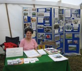 Julia Strong at the Pymoor Community Archive Group's stand at the Pymoor Show, 2007
