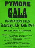 Poster advertising the Pymoor Gala in 1974.