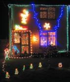 These lights in Main Street should help Santa find Pymoor 2007.
