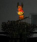 This Reindeer, outside the Old Mill in Pymoor, will help Santa get here even if it snows! 2007