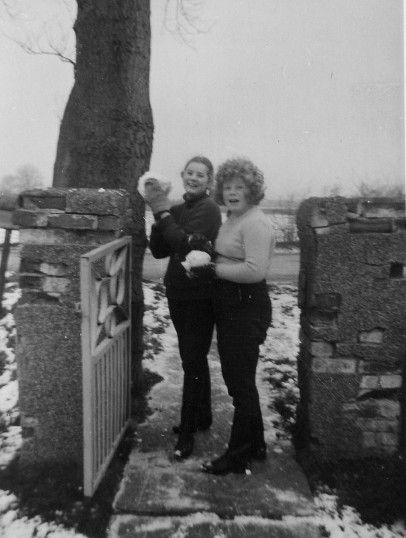 Christine Golding and Judith Barker outside 12, Pymoor Lane, Pymoor.