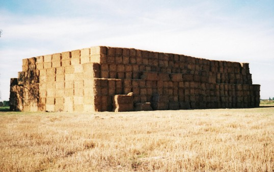 A Straw Stack at the eastern end of Pymoor Lane, Pymoor, 2004