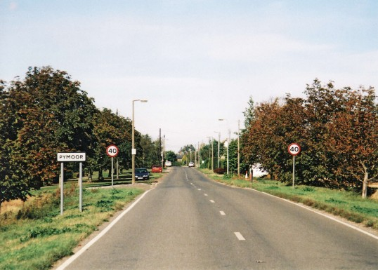 A view of Main Street, going into the village centre from Ely.. Pymoor
