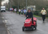 Alan Cooke was not in the race. He had been waiting patiently for a gap in the runners to cross Pymoor Lane, Pymoor, 2007