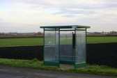 Bus shelter at the corner of 2nd Drove, Pymoor.