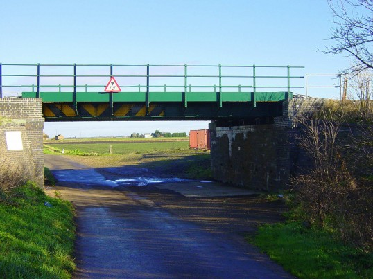 The Railway Bridge at Pymoor Sidings, Pymoor.