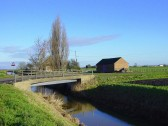"""Dexter's Bridge"" over the drain leading to the 100ft Pumping Station, near Pymoor Sidings, Pymoor, 2008"