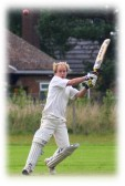 Chris Baker playing cricket for Pymoor CC, 2006.