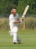 Another fine innings from Chris Baker in play for pymoor against Ely at The Pymoor Cricket Club Ground. 2008
