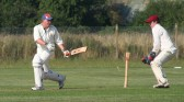 A spirited innings from Pymoor Cricket Club captain Steve Saberton comes to an end against Ely at the Pymoor Sports Ground 2006.