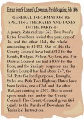 Extract from Parish Magazine about General Information Respecting the Rates and Taxes in the Parish, Pymoor.