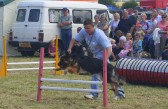 Another member of the Growlies Dog Club shows off it's talent in the Main Arena at the Pymoor Show.