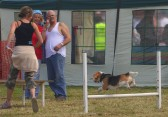 """Mr Growlie"", with Sue Marchant, commentates as another member of the Growlies Dog Club goes through it's paces at the Pymoor Show 2007."
