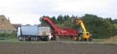 Loading Sugar Beet on to a lorry at Oxlode Farm, Pymoor, 2007