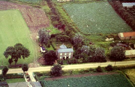 Aerial view of 21, Pymoor Lane, Pymoor, taken in 1965.