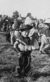 Barry Chester at a Fancy Dress Parade in Pymoor.. Barry Chester