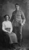 George 'Ganger'  Bell of Pymoor with his wife.