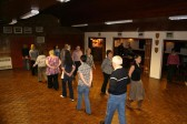 The Monday night Line Dancing Group at the Pymoor Social Club, 2008.