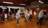 It requires concentration but it is a lot of fun for the Line Dancing Group at the Pymoor Social Club.