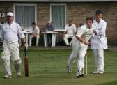 Pymoor Cricket Captain Steve Saberton lead his team to victory over Wilburton in the final match of the 2007 season. Pymoor comfortably won their league.