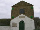 100 Ft Pumping Station, Pymoor, showing the plaque with the verse written by William Harrison, the Fen Poet 2008